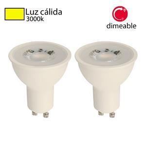 Imagen de Bombillo LED GU10 dimeable 3000k (2 pack)