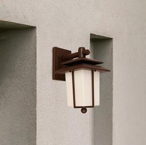 Lámpara Aplique de Ext. 1L chocolate farol