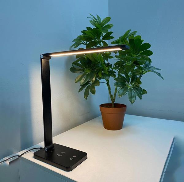 Lámpara de Escritorio LED negro cct