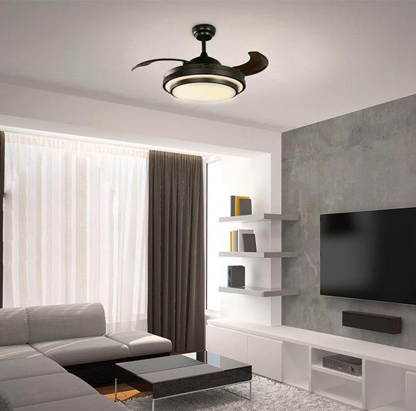 Ventilador de Techo LED negro 42