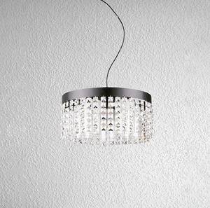 Lámpara Colgante 5L cristal negro
