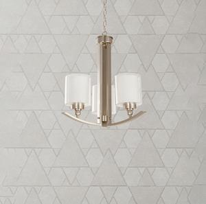 Lámpara Colgante 3L níquel sat
