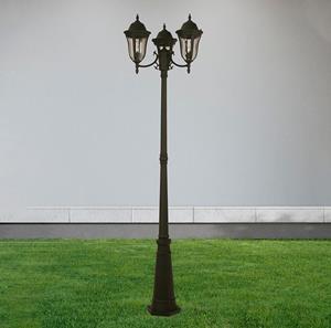 Lámpara Exterior Poste Farol 2L negro