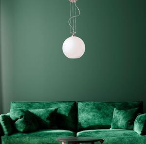 Lámpara Colgante 1L níquel blanco
