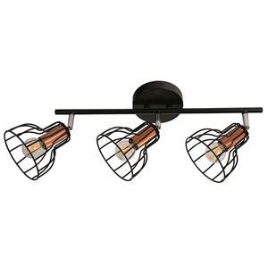 Imagen de Lámpara de Techo Spot Bolonia 3L round negro