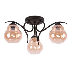 Imagen de Lámpara de Techo Semi-flush Regina 3L ambar